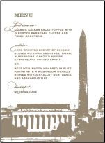 Charmed Washington DC Letterpress Menu Design Small