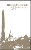 Charmed Washington DC Letterpress Reply Postcard Front Design Small