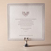Chelsea Letterpress Invitation Design Small