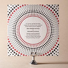 Circolo 2 Letterpress Invitation Design Small