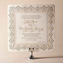 Claddagh Letterpress Invitation Design Small