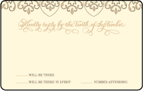 Claddagh Letterpress Reply Postcard Front Design Small