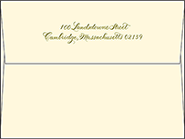 Classic Calligraphy Letterpress Envelope Design Small