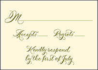 Classic Calligraphy Letterpress Reply Design Small