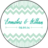 Classic Chevron Letterpress Coaster Design Small