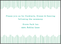 Classic Chevron Letterpress Reception Design Small