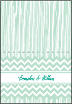 Classic Chevron Letterpress Thank You Card Fold Design Small