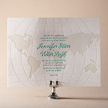 Classic Destination Letterpress Invitation Design Small