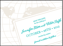 Classic Destination Letterpress Save The Date Design Small