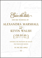 Classic Manhattan Letterpress Save The Date Design Small