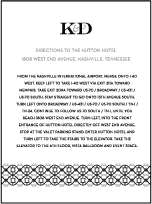 Classic Monogram Letterpress Direction Design Small