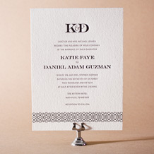 Classic Monogram Letterpress Invitation Design Small