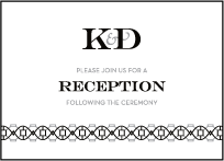 Classic Monogram Letterpress Reception Design Small