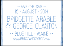 Classic Stitch Letterpress Save The Date Design Small