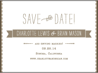 Collection Letterpress Save The Date Design Small