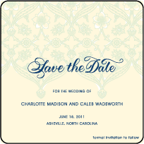 Connemara Letterpress Save The Date Design Small