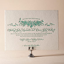 Conservatory Letterpress Invitation Design Small