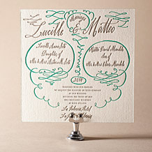 Coronado Letterpress Invitation Design Small