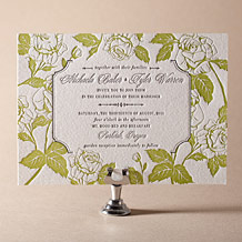 Cotillion Letterpress Invitation Design Small