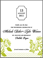Cotillion Letterpress Save The Date Design Small