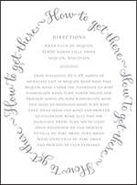 Credence Letterpress Direction Design Small