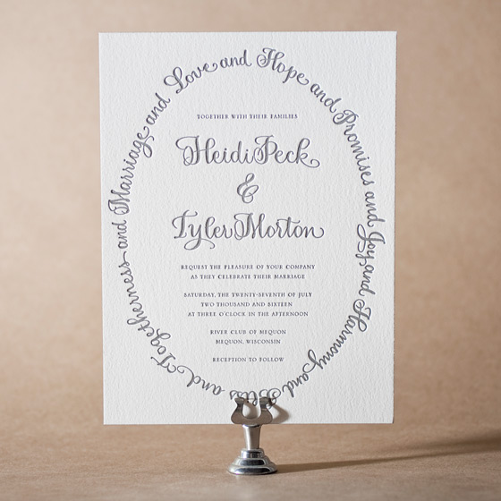 Credence Letterpress Invitation Design Small
