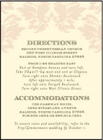 Damask Letterpress Direction Design Small