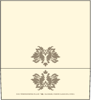 Damask Letterpress Envelope Design Small