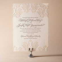Damask Letterpress Invitation Design Small
