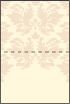 Damask Letterpress Placecard Fold Design Small