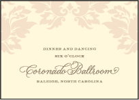 Damask Letterpress Reception Design Small