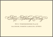 Damask Letterpress Reply Envelope Design Small