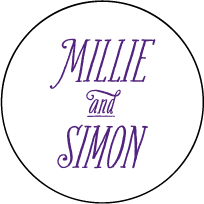 Darling Millie Letterpress Coaster Design Small