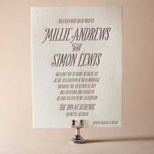 Darling Millie Letterpress Invitation Design Small