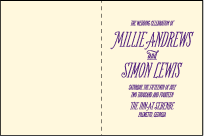 Darling Millie Letterpress Program Design Small