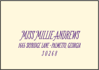 Darling Millie Letterpress Reply Envelope Design Small