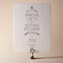 Dash Letterpress Invitation Design Small