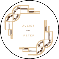 Deco Letterpress Coaster Design Small