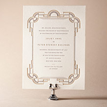 Deco Letterpress Invitation Design Small