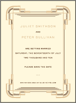 Deco Letterpress Save The Date Design Small