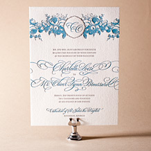 Delambre Classic Letterpress Invitation Design Small
