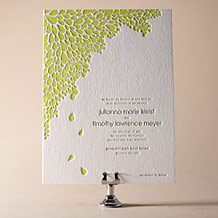 Dewdrop Letterpress Invitation Design Small
