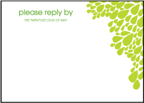 Dewdrop Letterpress Reply Design Small