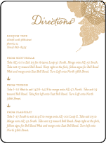 Divya Formal Letterpress Direction Design Small