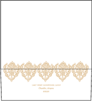 Divya Formal Letterpress Envelope Design Small