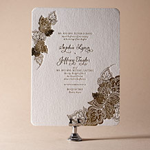 Divya Formal Letterpress Invitation Design Small