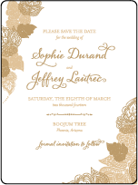 Divya Formal Letterpress Save The Date Design Small