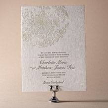 Dolce Letterpress Invitation Design Small