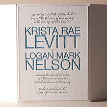 Drawing Room Letterpress Invitation Design Small