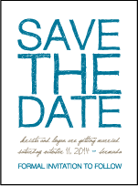 Drawing Room Letterpress Save The Date Design Small